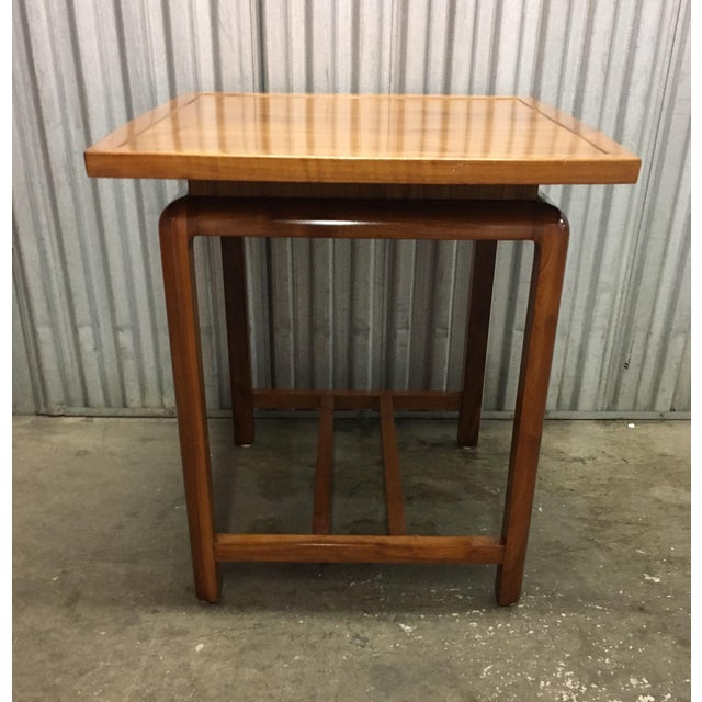 Risom Style Floating Top Side Table For Sale In Chicago - Image 6 of 10