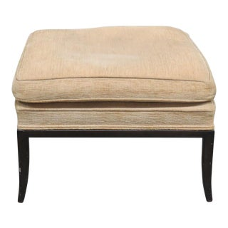 Rob Johns Gibbons Style Upholstered Footstool For Sale