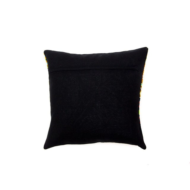 Hill Tribe Pillow - Handmade in Thailand Purple - Image 4 of 4