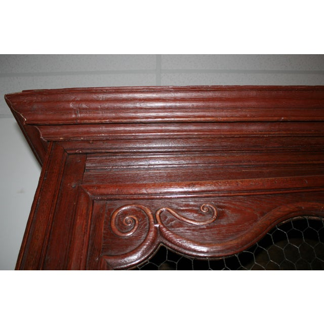 Brown English Hand Carved Armoire For Sale - Image 8 of 9