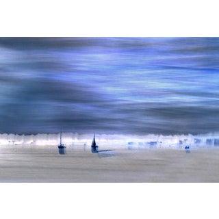 """Blue Sailboats"" Contemporary Seascape Photograph For Sale"