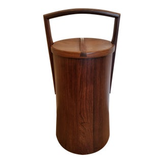 1960s Rosewood, Palisander Tall, Ice Bucket by Jens Quistgaard for Dansk For Sale
