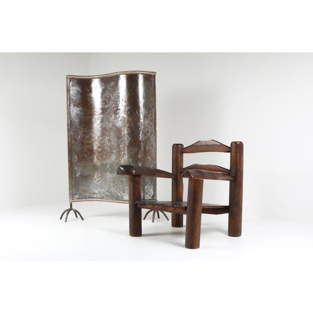 Brown 1950s Rustic Wooden Wabi Sabi Lounge Chairs For Sale - Image 8 of 11