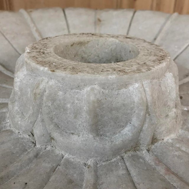 Gray 19th Century Carved Carrara Marble Garden Fountain For Sale - Image 8 of 12