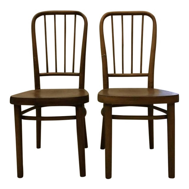 Vintage Model A 63 Chairs by Josef Frank for Thonet - A Pair For Sale