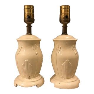 Art Nouveau Table Lamps - a Pair