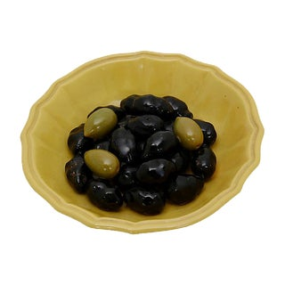 Vintage Spanish Trompe l'Oeil Bowl of Olives For Sale