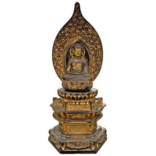 Edo Period Japanese Bodhisattva Shrine For Sale
