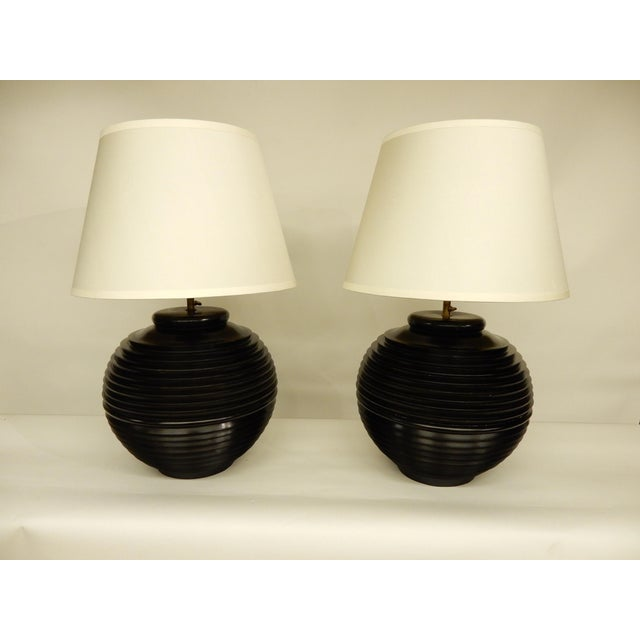 Brass Pair of Mid-Century Modern Lamps For Sale - Image 7 of 7