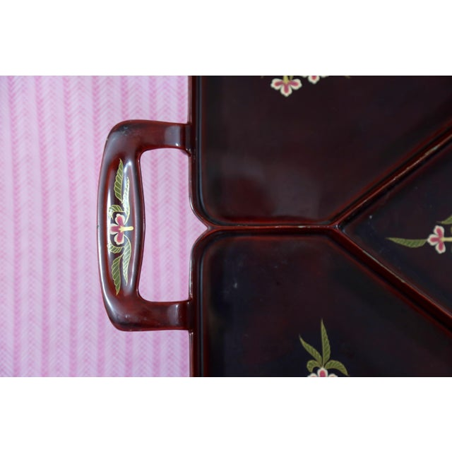 1960s Vintage Maruni Lacquerware Tray For Sale - Image 5 of 10