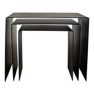 Noir Yves Nesting Tables - Set of 3 For Sale