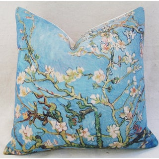 Van Gogh Inspired Cherry Blossom Linen Feather/Down Accent Pillow Preview