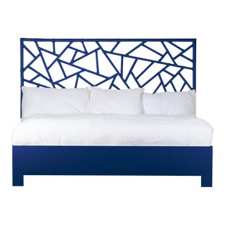 Tiffany Bed King - Navy Blue For Sale