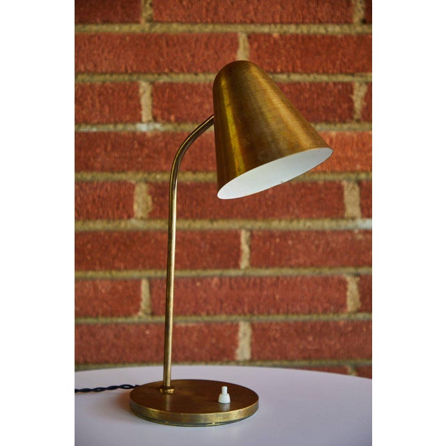 1950s 1950s Mid-Century Modern Brass Table Lamp For Sale - Image 5 of 12