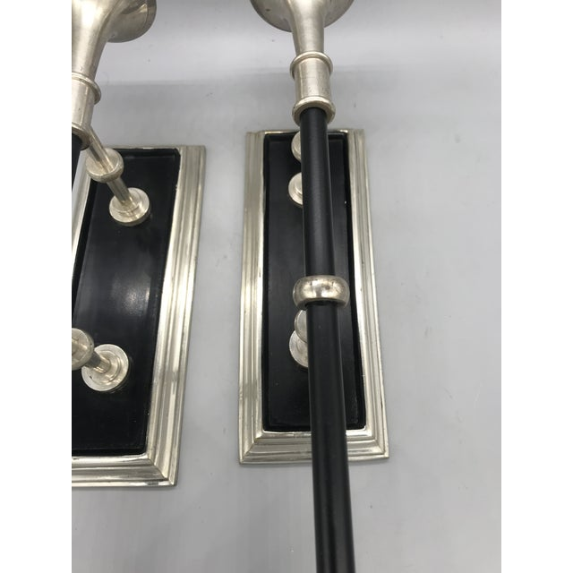 Vintage Wall Mounted Candle Holders - a Pair For Sale In Los Angeles - Image 6 of 10