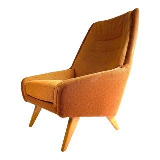 Vintage Danish Modern Highback Lounge Chair For Sale