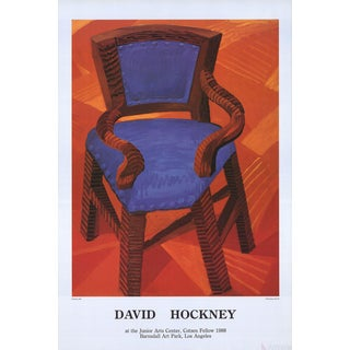 "David Hockney ""Chair"" 1985 Poster For Sale"