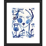 "Medium ""Flowers & Wine Indigo"" Print by Leslie Weaver, 18"" X 22"""