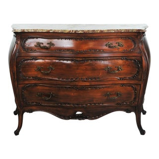 19th C. French Bombe Serpentine Style Commode Chest of Drawers For Sale