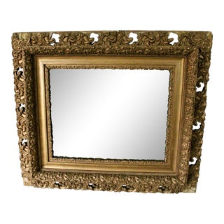 Antique Baroque Gilt on Wood Mirror For Sale