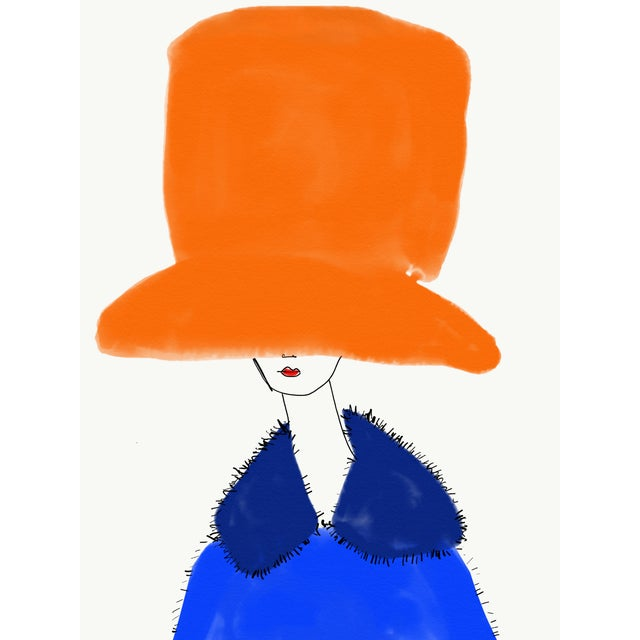 """Annie Naranian """"Orange Et Blu"""" Limited Edition Print by Annie Naranian For Sale - Image 4 of 4"""