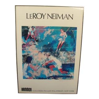 Vintage Leroy Neiman Hammer Galleries Poster, 1975 For Sale