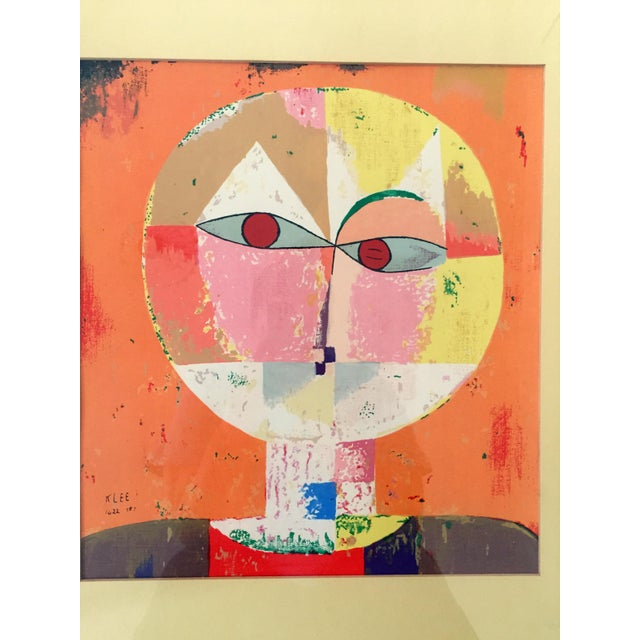 1980s Paul Klee Senecio Head of Man Framed Art Print For Sale - Image 5 of 9