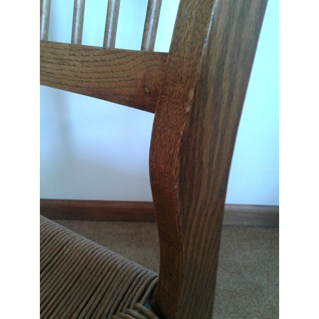 Mid-Century Modern Rush and Hardwood Side Chair For Sale - Image 10 of 12