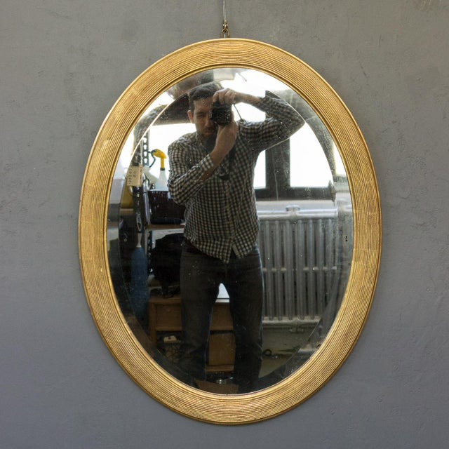 French 19th Century Oval Mirror with Gilt Frame For Sale - Image 11 of 11