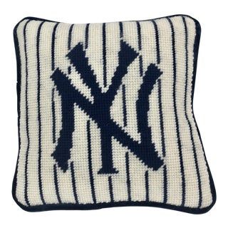 New York Yankees Needlepoint Pillow