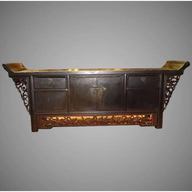 Asian Chinese Altar Coffer Cabinet For Sale - Image 11 of 11