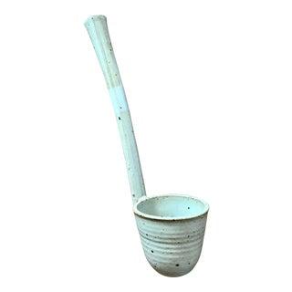 Hand Thrown Stoneware Ceramic Ladle For Sale