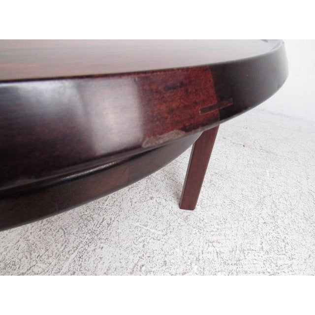 Vintage Scandinavian Rosewood Coffee Table by Haug Snekkeri for Bruksbo For Sale - Image 10 of 13