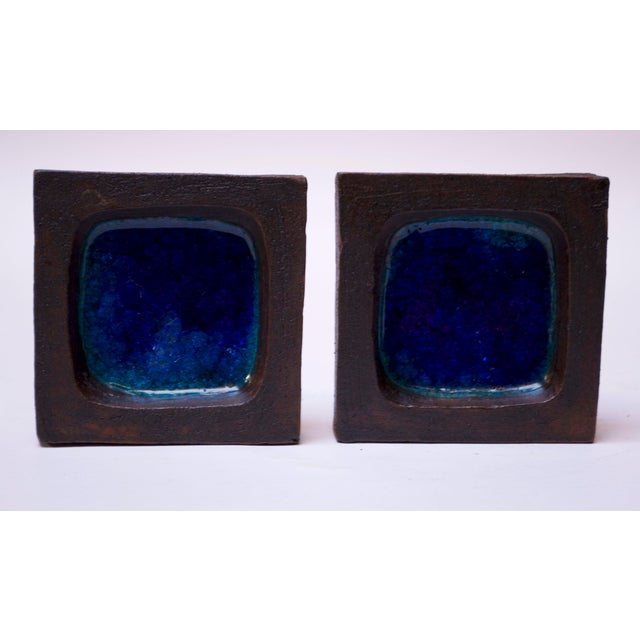 Mid-Century Modern Pair of Vintage English Stoneware Slab Panels by Robin Welch For Sale - Image 3 of 13