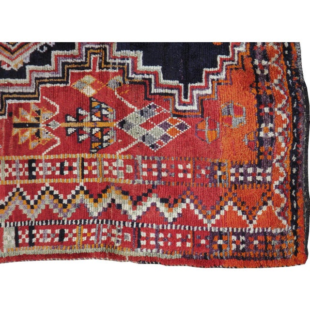 Mid-20th century, vintage Persian Gabbeh carpet. Hand-woven, professionally washed.