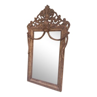 Nancy Corzine French Garland Mirror For Sale