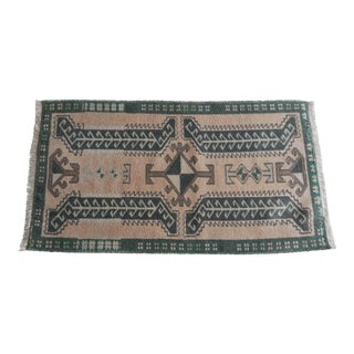 Flat Weave Rug Runner, Turkish Area Rug Small Tribal Carpet Bath Mat For Sale