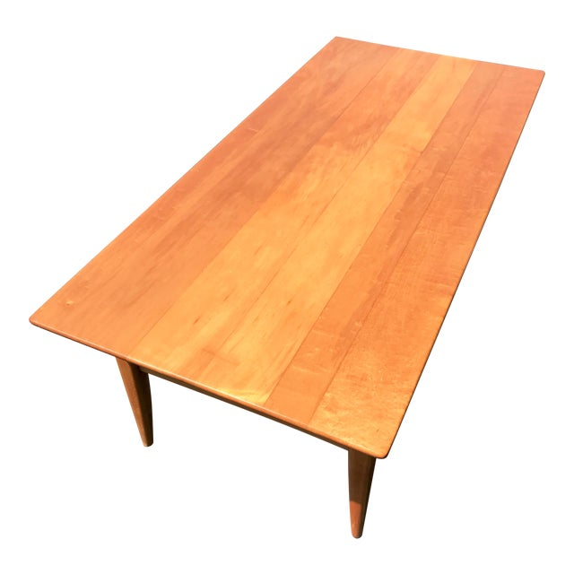 Mid-Century Two Level Maple Coffee Table For Sale