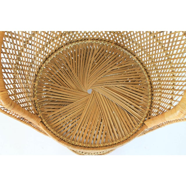 Boho Style Wicker Chair and Table For Sale - Image 9 of 10
