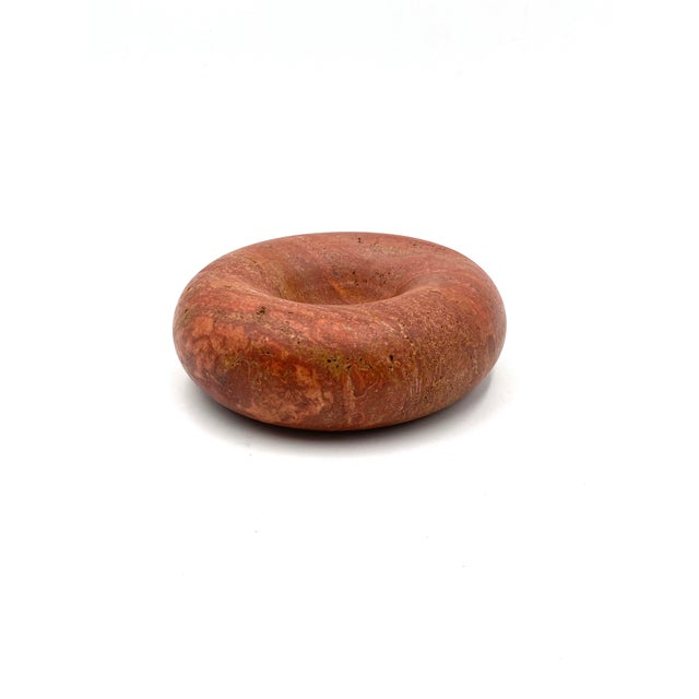 1970s Sergio Asti Pink Travertine Ashtray Bowl for Up&Up, Carrara Italy For Sale - Image 13 of 13
