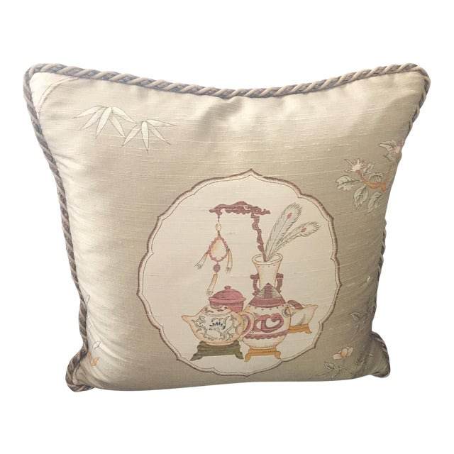 Custom-Made Silk Throw Pillow - Image 1 of 4