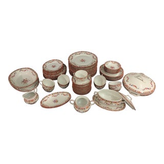 Fraureuth Standish Floral Swag Dishes Set - 63 Piece Set For Sale