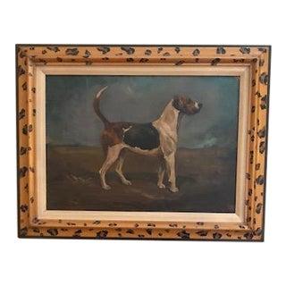 Dog Portrait Oil on Panel For Sale