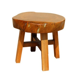 Chinese Thick Wood Plank Small Stool Table cs2643