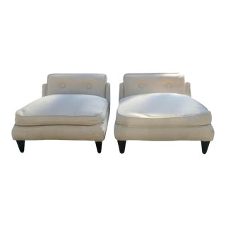 Pair of Mid Century Modern Slipper Chairs With Paul Laszlo Elegance For Sale