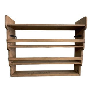 19th Century Honey Pine Kitchen Wall Shelves and Display Rack For Sale