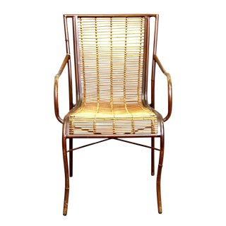 Mid-Century Modern Rattan Chair For Sale