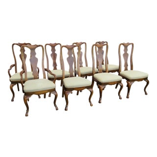 Set of Eight Dining Chairs by Drexel For Sale