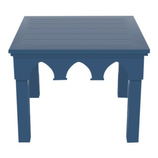 Oomph Ocean Drive Outdoor Side Table, Blue For Sale
