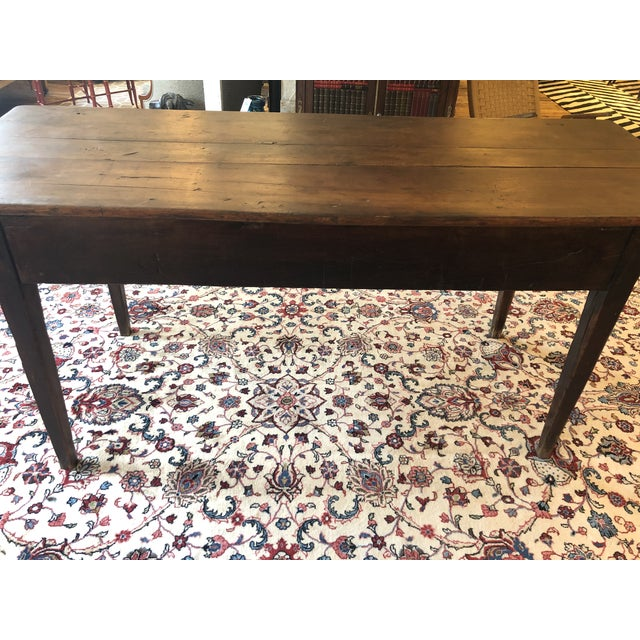 19th Century French Walnut Farm Table For Sale - Image 12 of 13